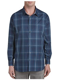 Synrgy Large Plaid Sport Shirt