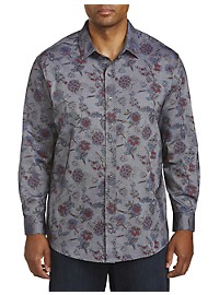 Synrgy Floral Print Sport Shirt