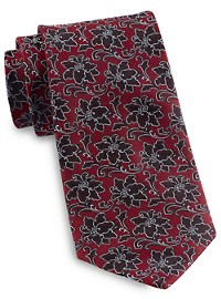 Rochester Designed in Italy Textured Tonal Floral Tie