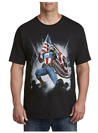Marvel Comics Captain America Flag Wave Graphic Tee
