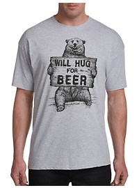 Will Hug For Beer Graphic Tee