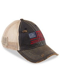 Retro Brand American Flag Vintage Trucker-Style Hat