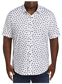 Synrgy Leaf-Print Stretch Sport Shirt