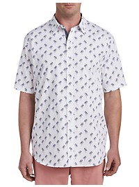 True Nation Palm Tree Print Sport Shirt