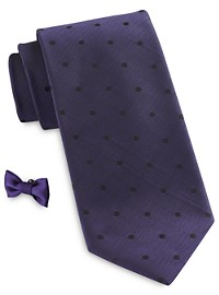 Synrgy Shaded Dot Tie with Lapel Pin