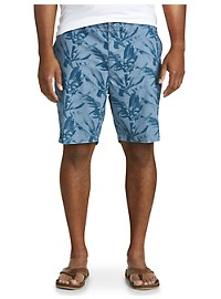 True Nation Stretch Tropical Leaf Shorts