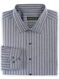 Rochester Non-Iron Herringbone Stripe Dress Shirt