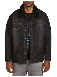 True Nation Stretch Denim Jacket with Removable Collar