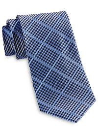 Rochester Designed in Italy Gingham Grid Tie