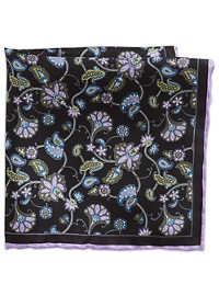Rochester Paisley Silk Pocket Square