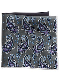 Rochester Solid Paisley Pocket Square