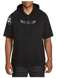 Society of One Embroidered Cut-Off Hoodie