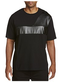 Society of One Faux-Leather Detailed T-Shirt