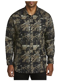 Society of One Abstract Camo Sport Shirt