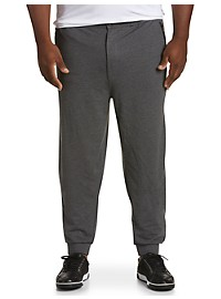 Twenty-Eight Degrees Faux-Leather Trim Joggers