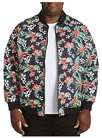 Society of One Floral-Print Bomber Jacket