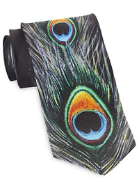 Rochester Designed in Italy Peacock Feather Tie