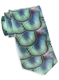 Rochester Designed in Italy Watercolor Feather Tie
