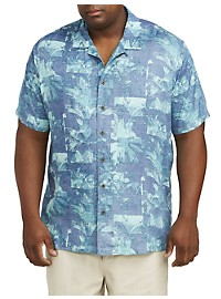 Island Passport Palm Print Sport Shirt