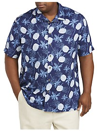 Island Passport Pineapple Print Sport Shirt