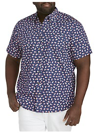 Harbor Bay Easy-Care Floral Print Sport Shirt