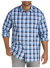 Synrgy Abstract Plaid Sport Shirt