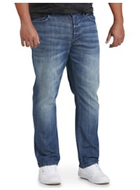 True Nation Straight-Fit Stretch Jeans