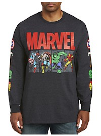 Marvel Comics Team Long-Sleeve Graphic Tee