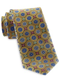 Rochester Designed in Italy Floral Medallion Tie