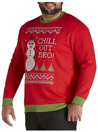 Chill Out Bro Fleece Sweatshirt