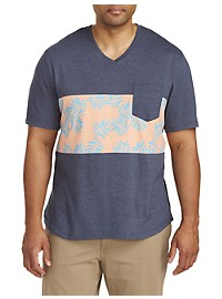 PX Clothing Colorblock V-Neck T-Shirt