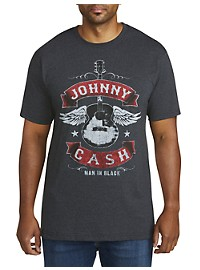 Johnny Cash Winged Guitar Graphic Tee