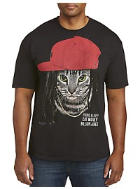 Cat Money Billonaires Graphic Tee