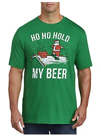 Hold My Beer Santa Graphic Tee