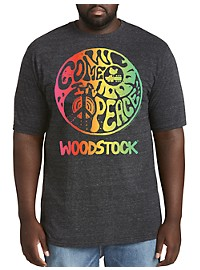 Retro Brand Woodstock Tie-Dye Graphic Tee