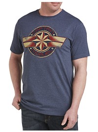 Marvel Comics Captain Marvel Emblem Graphic Tee