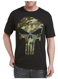 Marvel Comics The Punisher Camo Graphic Tee