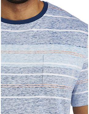 Harbor Bay Washed Stripe Pocket T-Shirt (Was $30, Now $17.98)