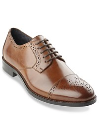 Stacy Adams Granville Perforated Cap-Toe Oxfords