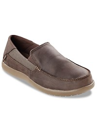 Crocs Santa Cruz Leather Slip-Ons