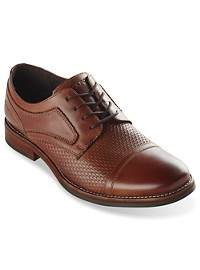 Rockport Wyat Woven Cap-Toe Oxfords