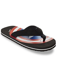 Marvel Comics Captain America Flip Flops