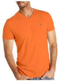 Lacoste Cotton Jersey V-Neck Tee