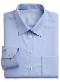 Eton Herringbone Solid Dress Shirt