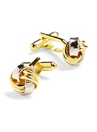 Link Up Two-Tone Knot Cuff Links