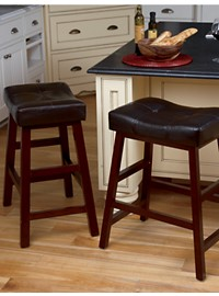 LivingXL Extra-Wide Faux-Leather Bar Stool