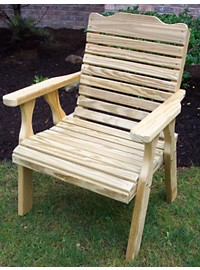 Creekvine Designs Treated Pine Crossback Chair