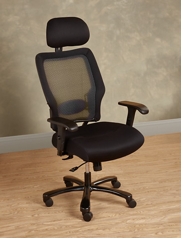 Big & Tall Office Star Mesh Office Chair with Headrest