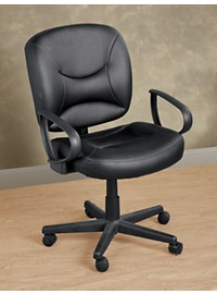 LivingXL Vinyl Office Chair with Arms