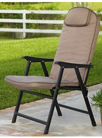 Extra-Wide Folding Padded Outdoor Chair